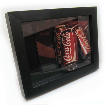 Quadro Decorativo 3d Coca-cola 18x24cm