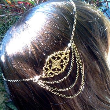 head chain boho gipsy ouro velho