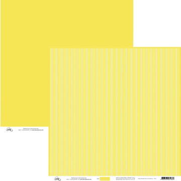Papel Listas Finas -Amarelo e Branco