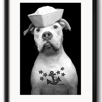 Quadro Pitbull Tattoo com Paspatur