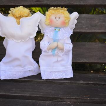 2 Anjos de mesa para batizado