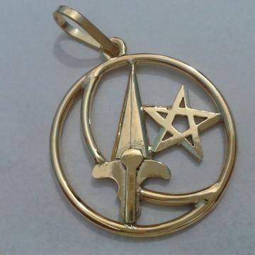 Medalha cigana em prata com banho d ouro