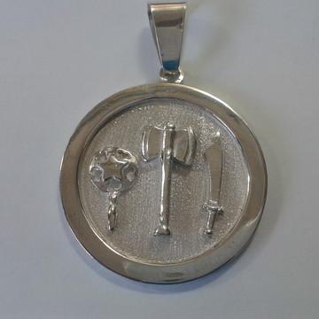 Medalha Xango oxum iansa em prata