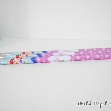Lápis personalizado pequena sereia