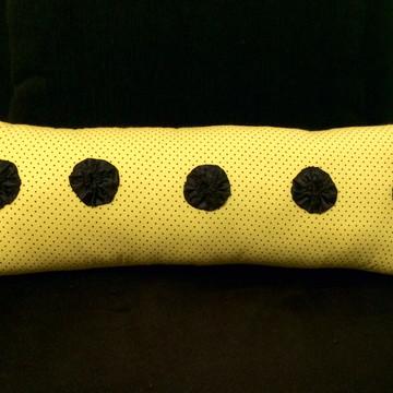 Almofada palito amarela Poá