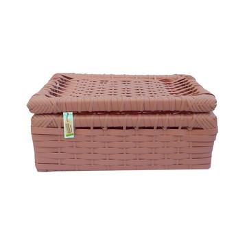 Caixa De Fibra Sintética Rosa 28x20x12