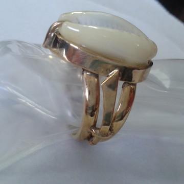 Anel OYA em prata com banho de ouro