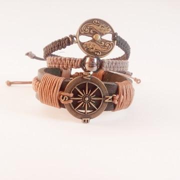 kit pulseira masculina shambala