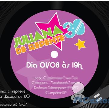 Convite Virtual Anos 80