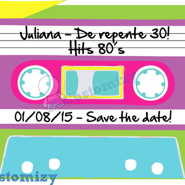 Save the date virtual Anos 80