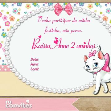 Convite Gatinha Marie (274)