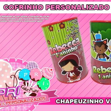 Cofrinho Personalizado - Chapeuzinho V.