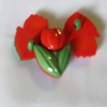 Botões Tulipa Vermelho 374 kit com 7 uni