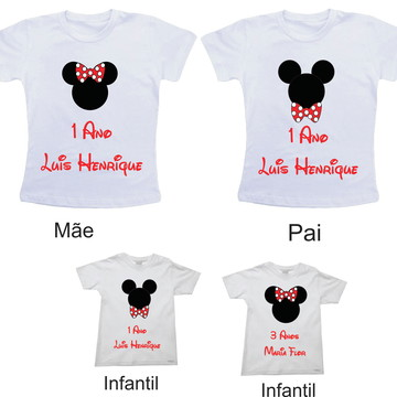 Kit de Camisetas Aniversario Disney