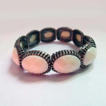 Bracelete em Metal Rosê