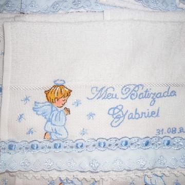 Mini Toalha Meu Batizado menino