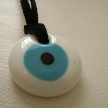 Colar Olho turco/olho grego branco