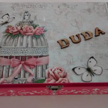 Porta Jóias em madeira, mdf, decorado