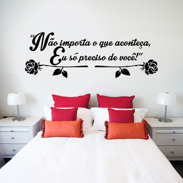 Adesivo Cabeceira de cama romântica