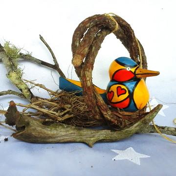 Comedouro - Pássaro Móbile PopArt