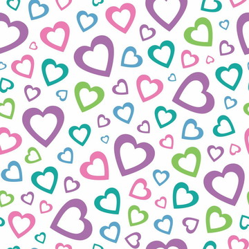 Papel de parede coração Decor 29
