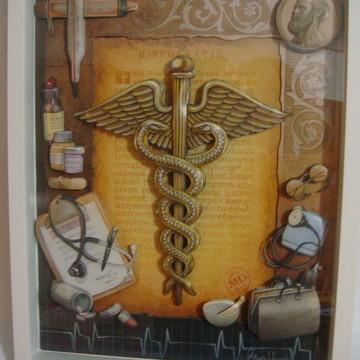 Quadro arte francesa Medicina