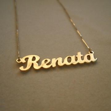Colar com Nome Dourado Personalizado