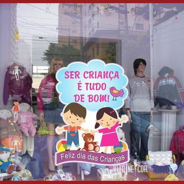 Adesivo de Vitrine Dia das Crianças