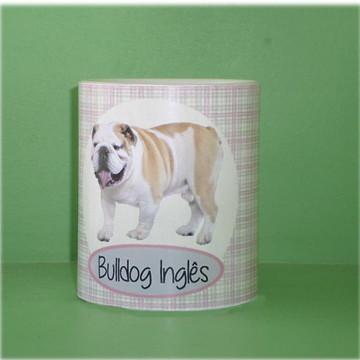 Caneca Bulldog Inglês Xadrez