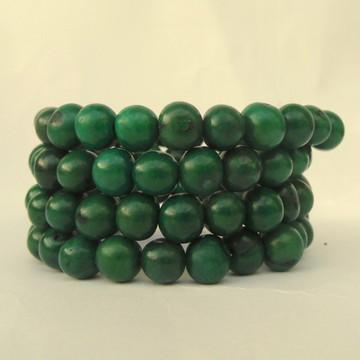 Pulseira verde sementes de açaí