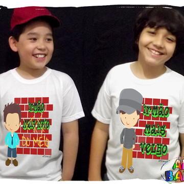 Camisetas Irmão Mais Velho Irmão do Meio