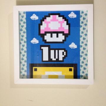 Quadro Cogumelo Super Mario
