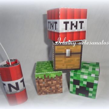 Caixinha blocos Minecraft