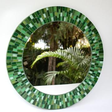Espelho em mosaico Verde 50 cm