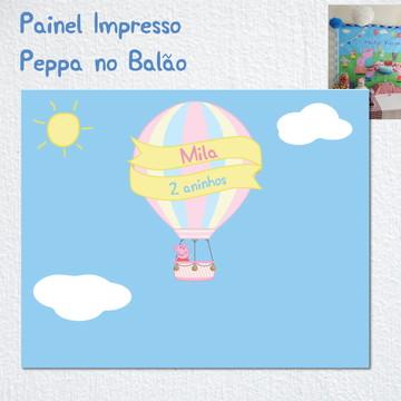 FESTA PEPPA PIG Painel Impresso BALÃO