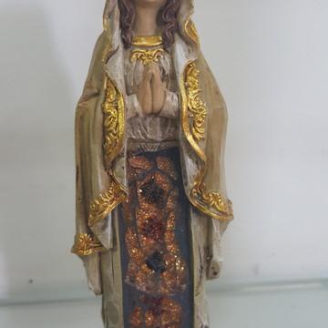Nossa senhora Lourdes resina estilizado