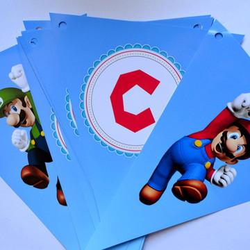 Bandeirolas Super Mario Bros