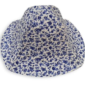 668f4bb1ce Chapeu Tec Floral Azul | Elo7