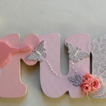 Bruna cinza rosa bailarina nome decorado