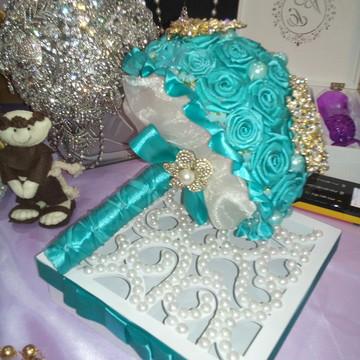 Bouquet/Buquê Verde Tiffany médio