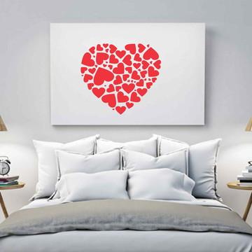 adesivos parede amor coração love