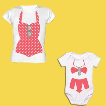 Camiseta mãe e filha Pinup