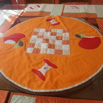 Toalha de mesa para prato giratório