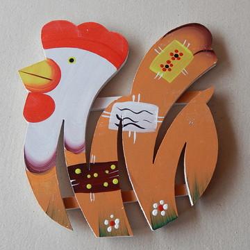 Decoração cozinha descanso panela galinh