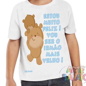 Camiseta Ursinhos Irmão Mais Velho