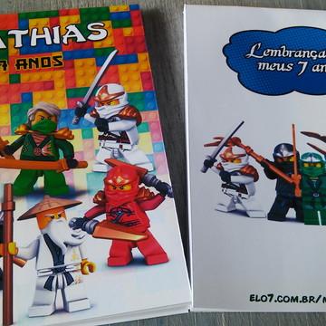 Bloquinho Personalizado LEGO Ninjago