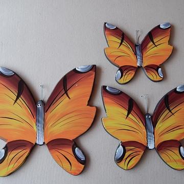 Decoração parede borboleta colorida bm