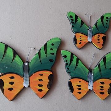 Decoração parede borboleta verde bp