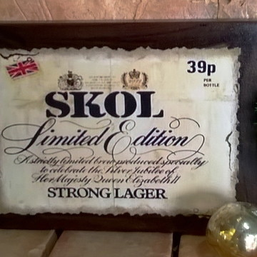 Quadro Vintage - Bebidas SK