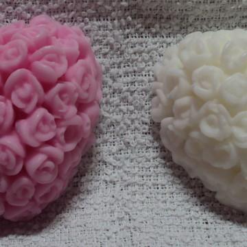 Sabonete de Coração com Rosas